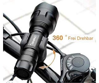 Soporte para linterna en manillar de bicicleta