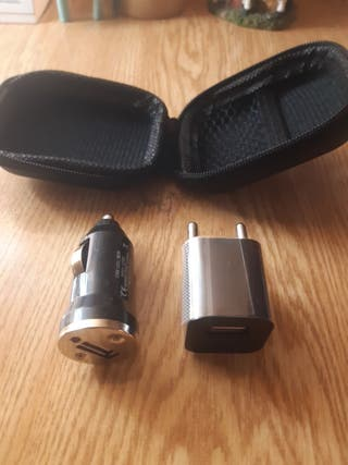 Adaptador usb para cargador de enchufe y mechero