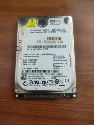 "Disco duro 2'5"" 160Gb"