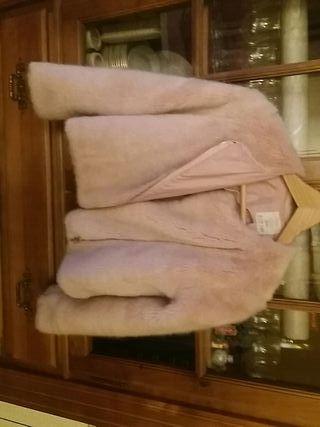 chaqueta pelo rosa