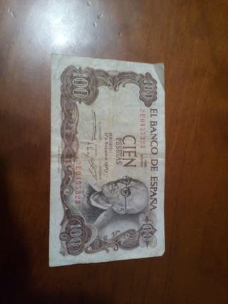 Billete 100 pesetas 1970