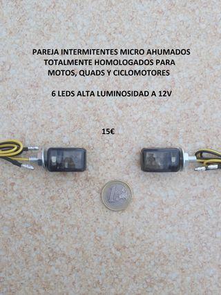 intermitentes led micro ahumados homologados