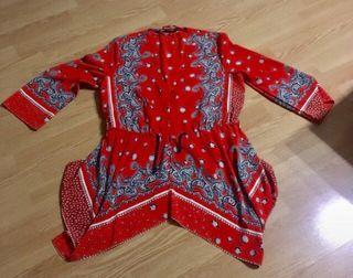 Camisa kimono roja de Zara