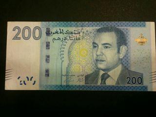 MARRUECOS Billete de 200 dirhams 2012