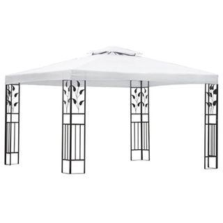 vidaXL Carpa cenador blanco 141241