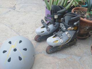 patines decatlon num 38 con casco