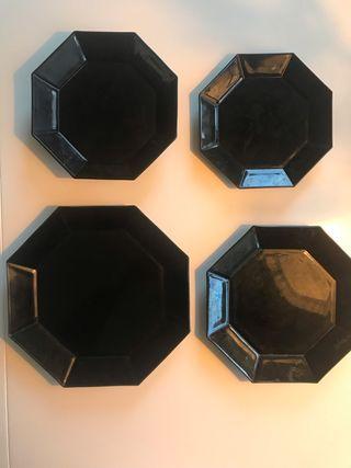 Vajilla Negra octogonal Retro Arcopal