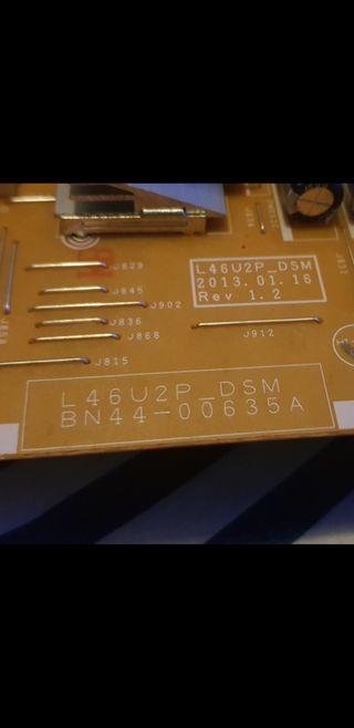 placa base de televisor Samsung Smart TV UE40F8000