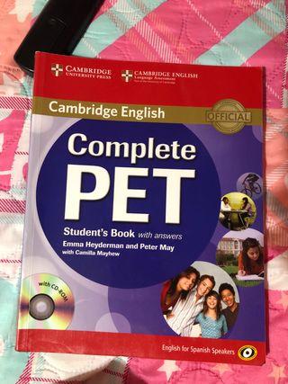 Libro de ingles de Cambrigde PET