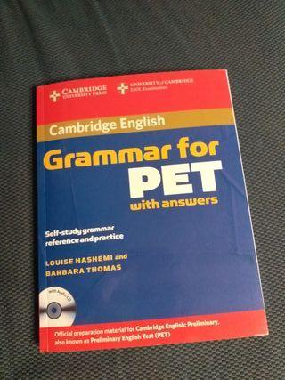 libro Cambridge english. Grammar for pet with answ