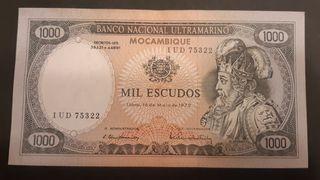 MOZAMBIQUE Billete de 1000 escudos 1972