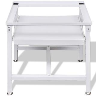 vidaXL Pedestal para lavadora con estante 50449