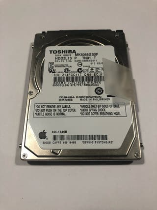 HDD 2,5'' 500GB mac OS Sierra 10.12.3 APPLE