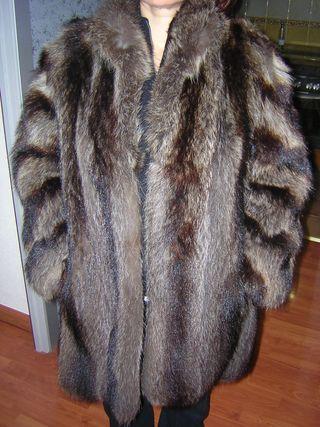 Abrigo mujer pieles zorro