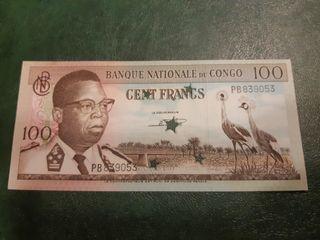 CONGO RD Billete de 100 francos 1964
