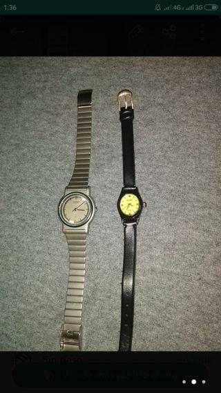 relojes Seiko y Samsung