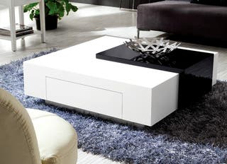 Large Black & White High Gloss Coffee Table RRP £3