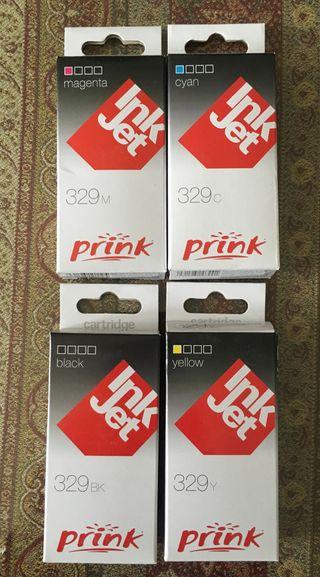 Cartuchos de tinta Prink Inkjet 329