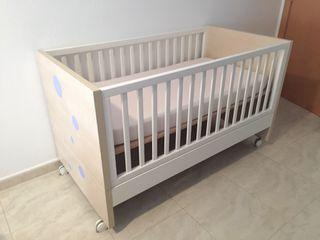 Cuna para bebe 140x70 con colchon