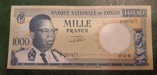 CONGO RD billete 1000 Francos 1961