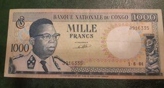CONGO RD Billete de 1000 francos 1964