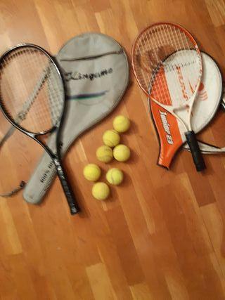 raquetas de tenis más pelotas