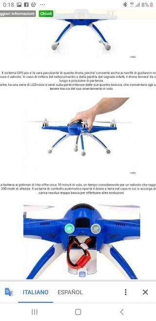 Dron avanzado blue arrow gps