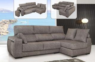 Sofa con chaisslongue, nuevos