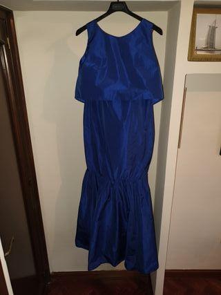 Vestido azul, fiesta, Javier Simorra