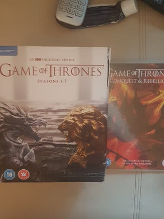 game of thrones bluray series 1 to 7an bonus disk