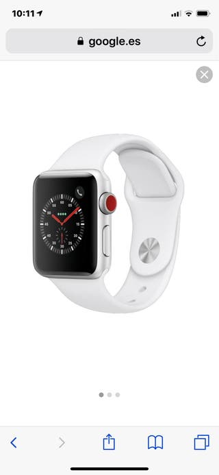 Apple watch series 3 GPS + celular 38 mm.