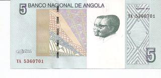 ANGOLA BILLETE 5 KWANZAS 2012 SC
