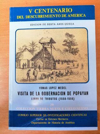 LIBRO HISTORIA DE AMÉRICA. POPAYÁN.