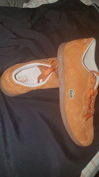 Zapatillas Lascoste mujer naranjas
