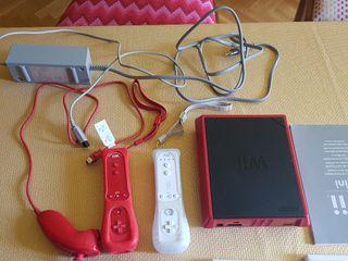 Es una Wii mini contiene la consola en si con el c
