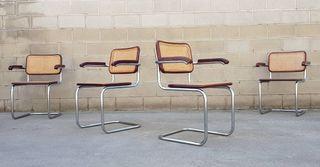 Silla Cesca (B64) de Marcel Breuer. Vintage 80s.
