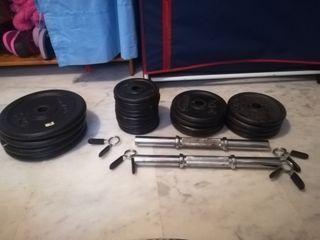 lote pesas-discos 50 kg