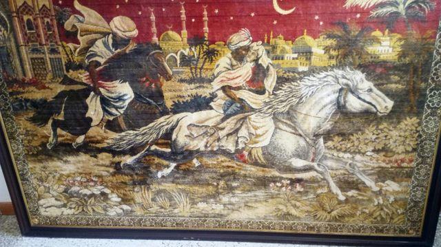 cuadro tapiz antiguo