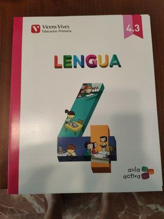 Libro cuarto primaria de Lengua Vicens Vives NUEVO