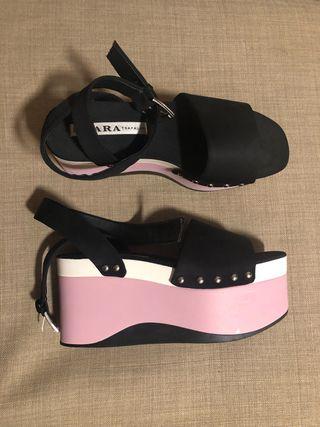 Sandalias con plataforma Zara