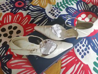 Zapato de novia de piel