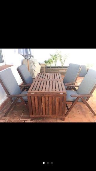 Mesa terraza exterior madera