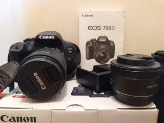 Canon EOS 700D (Objetivo 18-55 y objetivo 50mm)