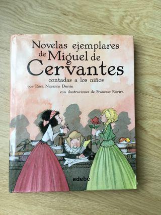 Libro novelas ejemplares de Miguel de Cervantes