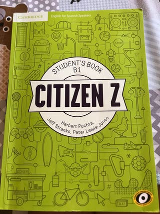 Libro de inglés Citiczen Z B1 student's book
