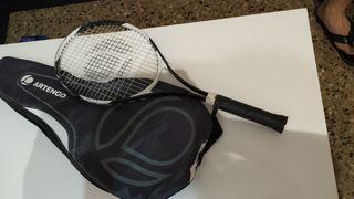 raqueta tenis más una funda y raquetero