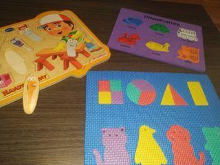 many manitas espuma juego puzzle piezas
