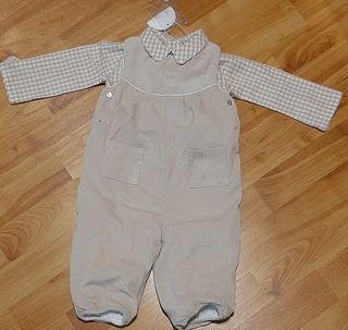Peto+camisa bebe marca Dulces sin estrenar