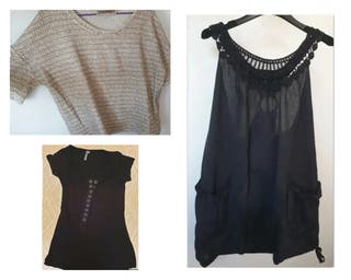Vestido bordados, top y camiseta