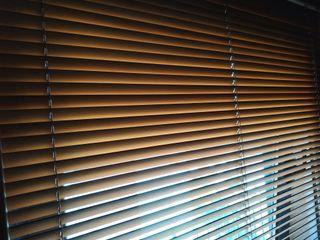 Persiana cortina lamas madera orientables